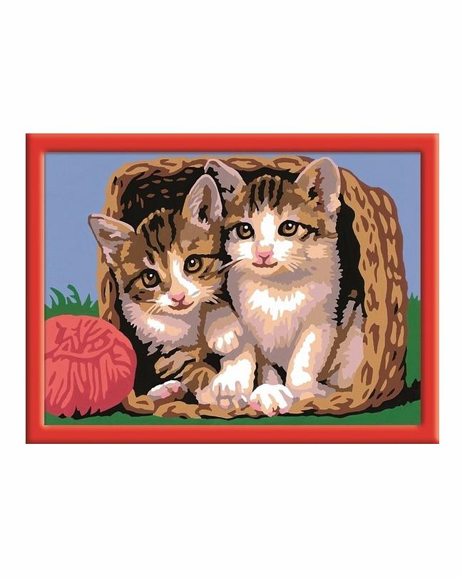 Раскраски по номерам котенок