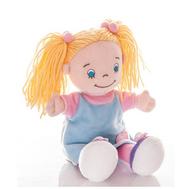 (50-183) AURORA Игрушка мягкая Кукла девочка 25 см в голуб. платье, фото 1