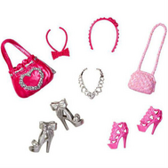 """(N4811-BCN43) Набор обуви и аксессуаров для куклы Барби """"Модный стиль"""", фото 1"""