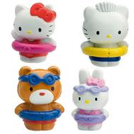 (003083) Hello Kitty набор для ванны Фигурки (4 шт + карманчик), фото 1