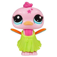 "(A0213) Игрушка Littlest Pet Shop ""Ходячие зверушки"" Розовая птичка, фото 1"