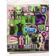 """(Y6608-3724) Кукла """"Школа монстров"""" Создай своего монстра Кошка и Ведьмочка, фото 1"""