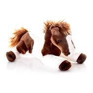 (10-810) Игрушка мягкая Лошадка лежачая коричневая30 см, фото 1