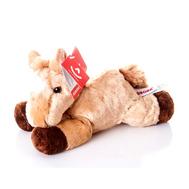(10-817) Игрушка мягкая Лошадка лежачая рыжая 20 см, фото 1
