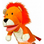 (91-380) Кукла на руку Лев со звуком, 25 см, фото 1