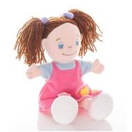 (50-184) AURORA Игрушка мягкая Кукла девочка 25 см в малин. платье, фото 1