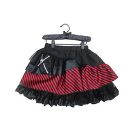 (9050015) Monster High Petti Skirt - Black with Red Stripes, фото 1