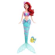 Кукла Disney Princess Русалочка Ариель с фонтанчиком и рыбка Флаундер, фото 1