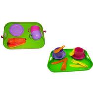 """Набор детской посуды """"Минутка"""" с подносом (на 2 персоны) в сетке, фото 1"""
