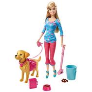 Barbie. Набор Барби Барби выгуливает собаку Серия Семья, фото 1