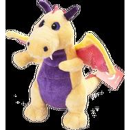Игрушка мягкая Aurora  Дракон желтый, 20 см, фото 1