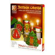 Набор для лепки свечей с золотым и серебряным воском. Лепим свечи, фото 1
