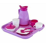 Набор детской посуды Алиса с подносом на 2 персоны (Pretty Pink), фото 1