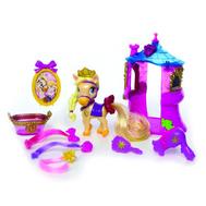 Palace Pets. Пони Blondie, питомец Рапунцель,  в наборе с аксессуарами (1 башня-домик, 1 щетка, 3 кл, фото 1