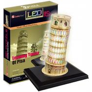 Пизанская башня с иллюминацией (Италия) (L502h), фото 1