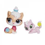 "Набор Littlest Pet Shop ""Мама и Малыш"" Кошка и котёнок, фото 1"