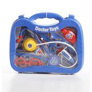 Набор доктора, 13 предметов в наборе(стетоскоп, зеркало, ножницы, игла, ложка, 2 бутылочки, тарелка,, фото 1