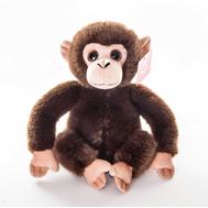 AURORA Игрушка мягкая Обезьянка тёмно-коричневая 28 см, фото 1