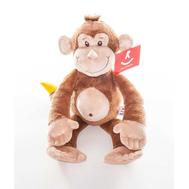 AURORA Игрушка мягкая Обезьянка с бананом 33 см, фото 1