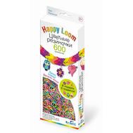 Happy Loom. Цветные резиночки. Набор: 600 резиночек, браслет, крючок, подвески, фото 1
