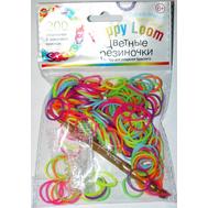 Happy Loom. Цветные резиночки. Набор в пакете: 200 резиночек, крючок, замочки, фото 1