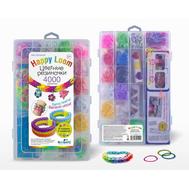 Happy Loom. Цветные резиночки, Набор: 4000 резиночек, станок, крючок, замочки, подвески, наклейки, фото 1