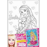 Barbie. Роспись по холсту ЛЮБИМАЯ БАРБИ, 20*30см, фото 1