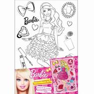 Barbie. Роспись по холсту БЛИСТАТЕЛЬНАЯ БАРБИ, 20*30см, фото 1