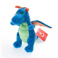 Игрушка мягкая Aurora  Дракон синий, 12 см, фото 1