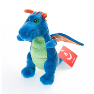 Игрушка мягкая Aurora  Дракон синий, 20 см, фото 1