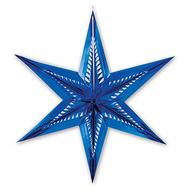 Фигура Звезда 6конечн фольг синяя 60см/G, фото 1