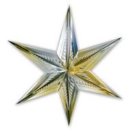 Фигура Звезда 6конечн зол/сер 60см/G, фото 1