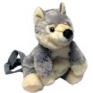 AURORA Игрушка мягкая Рюкзак - Волк 33 см, фото 1