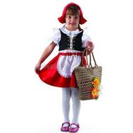 Костюм карнавальный Красная шапочка (текстиль) размер 26 (детский), фото 1