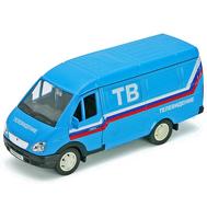 Игрушка модель машины ГАЗель ТЕЛЕВИДЕНИЕ (42387CTB), фото 1