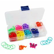 LOOM TWISTER. Набор для плетения браслетов из резинок : 270 штук разноцветных резинок, 12 соединител, фото 1