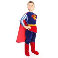 """Костюм карнавальный """"Супермен"""" (куртка, брюки, накидка, сапоги, пояс) Зв. маскарад, фото 1"""