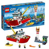 Город Пожарный катер Лего 60109, фото 1