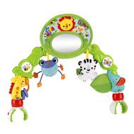 """Дуга BHW57 игровая с зеркальцем """"Друзья из тропического леса"""" для коляски Fisher-Price (BH, фото 1"""