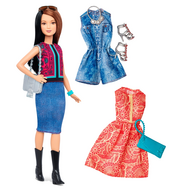 Barbie® Fashionistas™ 41 Pretty in Paisley Doll & Fashions - Petite, фото 1