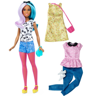 Barbie® Fashionistas™ 42 Blue Violet Doll & Fashions - Petite, фото 1