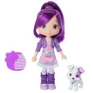 Игрушка Шарлотта Земляничка Кукла Сливка с питомцем, 15 см, кор., фото 1