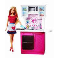 Кукла и комплект мебели Кухня Barbie Mattel (Маттел) (CFB62), фото 1