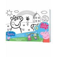 Роспись по холсту Свинка Пеппа и Джордж (Peppa Pig) (24675), фото 1