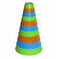 Пирамидка 10 элементов Полесье (П35042), фото 1