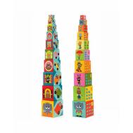 Кубики-пирамида Djeco Машины 10 эл. (08508), фото 1