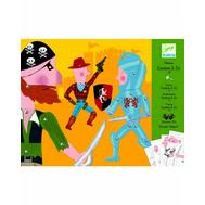 Набор для творчества Djeco Бумажные куклы Ковбой и компания (09650), фото 1