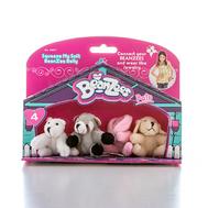 """Beanzeez мини плюш в наборе """"Медведь, Енот, Кролик, Песик"""" (B34011), фото 1"""