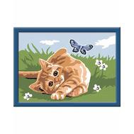 Раскраска по номерам Котенок на траве Ravensburger (27962), фото 1