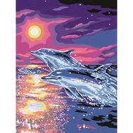 Раскраска по номерам Дельфины на закате Ravensburger (28202), фото 1